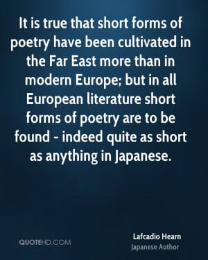 Lafcadio Hearn Poetry Quotes