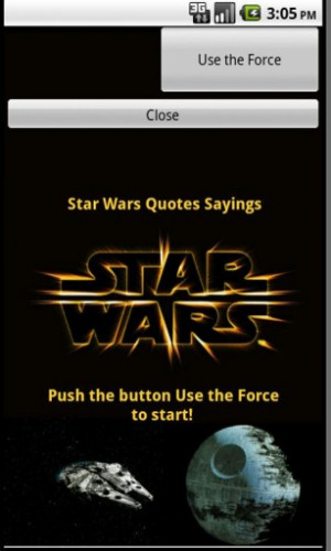 View bigger - Star Wars Quotes Sayings for Android screenshot