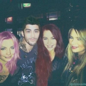 Molly, Zayn, Steph and Tessa back in the frat party days!! #After