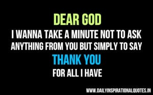 Thank You God Inspirational Quotes