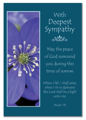 ... CARDS - With Deepset Sympathy - (Christian Wording & Bible Verses