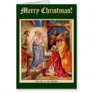 Wise Men Christmas Card, with Bible Verse
