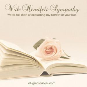 Condolence Sympathy Quotes