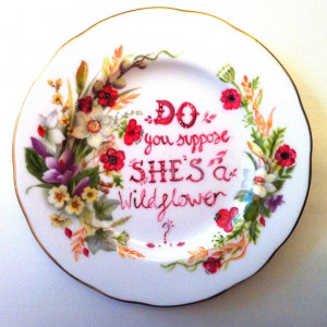 Do you suppose she's a wildflower - Alice In Wonderland - Quote Art ...