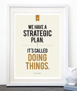 Strategic Plan Print, Herb Kelleher Quote, 11.7 x 16.5, A3 ...