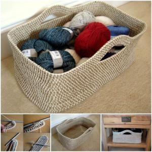 ... on: www.icreativeideas.com/creative-ideas-diy-crochet-rope-basket