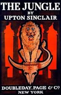 """the jungle by upton sinclair student Upton sinclair famously remarked about the jungle: """"i aimed at the public's heart and by accident i hit it in the stomach""""if sinclair's aim was to arouse a sympathetic response, why does the novel fail to perform its intended function."""