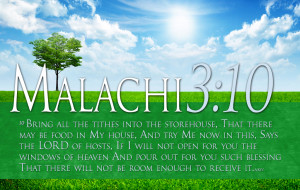 Bible Verses On Tithing Malachi 3:10 HD Spring Sun Wallpaper
