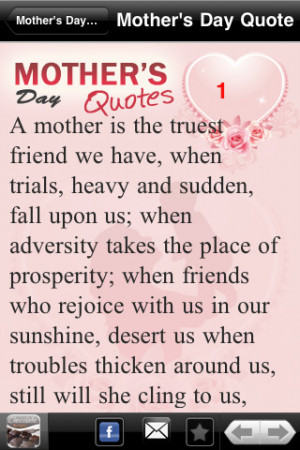 Best Mother's Day Quotes iPhone App & Review