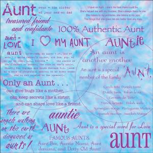 aunt mothers day quotes | Aunt Words Scrapbook Paper Aunts 12X12 ...