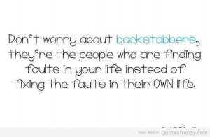 Your Life Instead Of Fixing The Faulte In Their Own Life Worry Quote