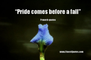 Pride comes before a fall""