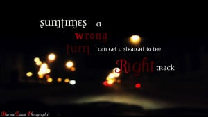 Blurry Quotes Track ~ driving quote
