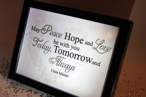 May Peace, Hope And Love, Sparkle Word Art Pictures, Quotes, Sayings ...