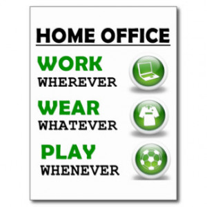 Work From Home Office Funny Quote Postcard