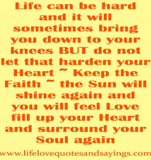 Motivational Quotes About Hard Life: Life Can Be Hard And It Will ...