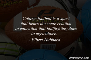 americanfootball-College football is a sport that bears the same ...