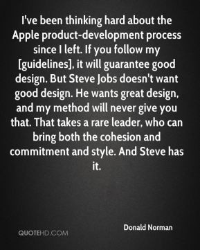 Donald Norman - I've been thinking hard about the Apple product ...