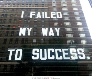 Nothing fails like success.