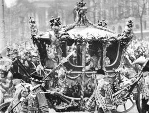 Imperial: The state coach carrying King George VI and Queen Elizabeth ...