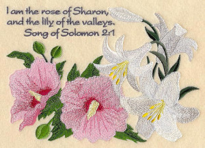 FLOWERS Of The Bible - LILY Of The VALLEYS - Machine Embroidery Quilt ...