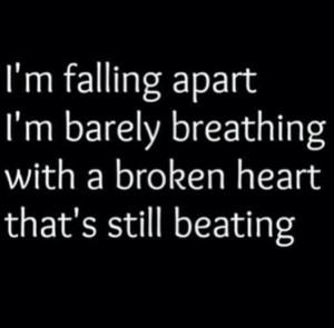 Instagram Quotes About Breakups Heart broken sad breakup