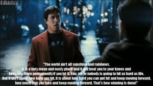 ... inspirational speech by Sylvester Stallone. (Rocky Balboa - 2006