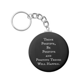 POSITIVE LIFE MOTIVATIONAL QUOTES THINK ACT MOTTO KEY CHAIN