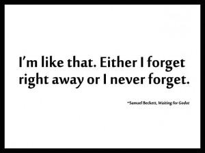 from Samuel Beckett's 'Waiting for Godot