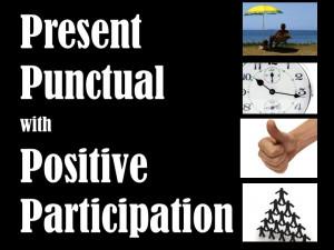 Present punctual with positive participation