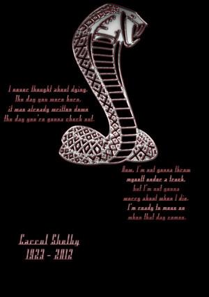 Carrol Shelby Memorial (Alternate Quote) Art Print