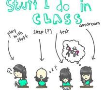 boring play funny class fun unicorn daydream cartoon text