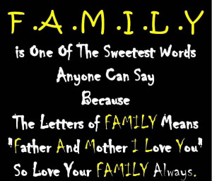 Family Quotes And Sayings Short