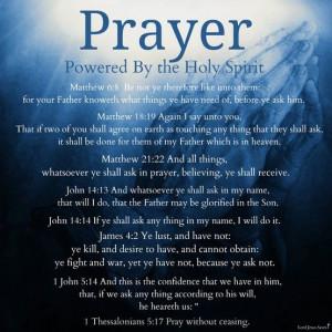 Prayer powered By the Holy Spirit