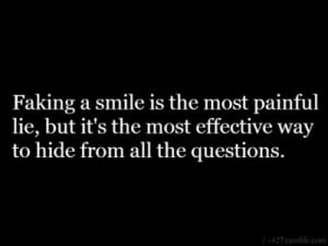 quotes about hiding pain behind a smile