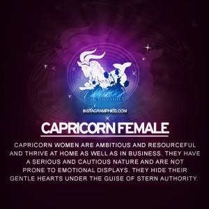 Capricorn Female Personality Graphic