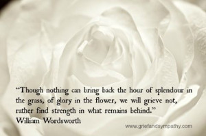 splendor in the grass poem wordsworth | Grief Quotes for Comfort and ...