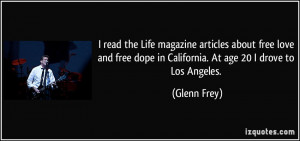 read the Life magazine articles about free love and free dope in ...