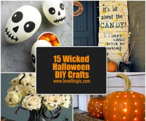 15 Wicked Halloween DIY Crafts