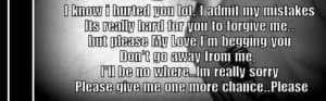 give me one more chance quotes