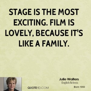 Julie Walters Family Quotes