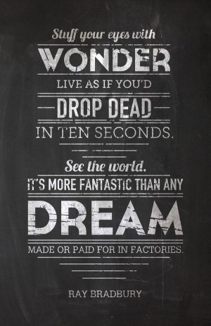 Fahrenheit 451 quotes, best, sayings, deep, dream, wonder