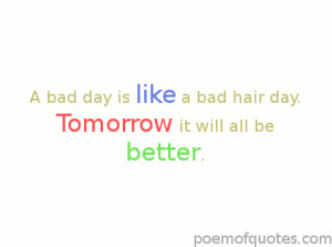 Quotes About Having a Bad Day
