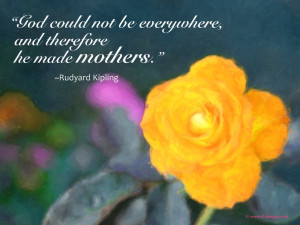 Mother / Mother's day Quote on a wallpaper