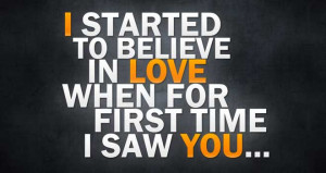 Elegant Mind Blowing Quotes I Started To Believe In Love When For ...
