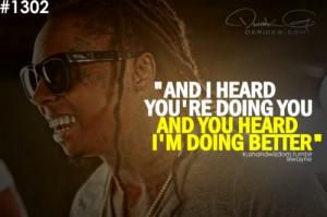 doing better (;