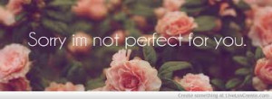 Sorry I'm Not Perfect For You ""