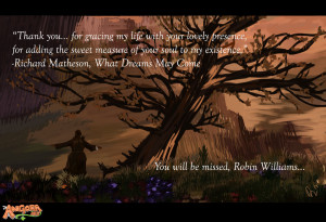 Robin Williams Tribute: What Dreams May Come by AngoraART