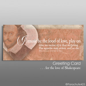 SHAKESPEARE LOVE QUOTE Card, Twelfth Night, personalized wedding card ...