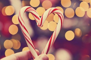 candycane, christmas, heart, photography